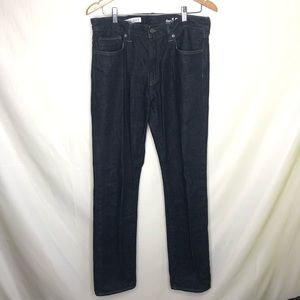 GAP men's straight leg dark blue denim size 32x34